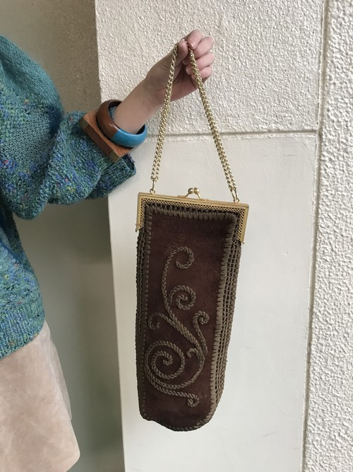 70s suede bag ( ヴィンテージ  スウェード バッグ )