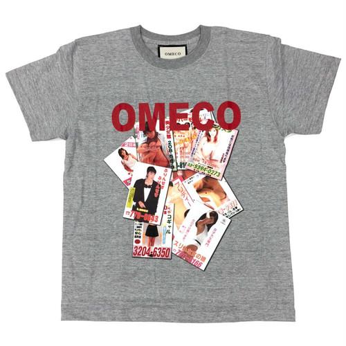 OMECO ピンクチラシ Tシャツ (1カラー × 3サイズ:M/L/XL)
