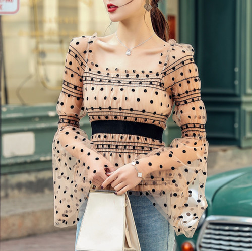 sheer dot tunic