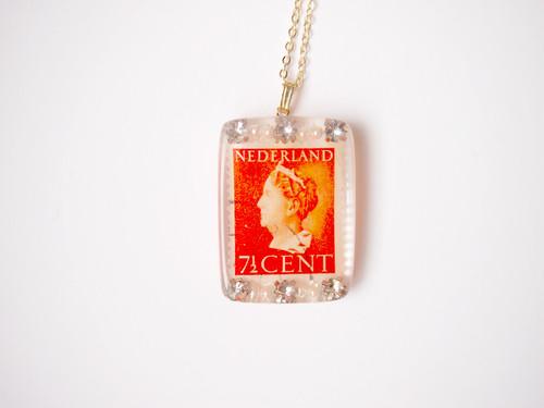 stamp necklace [orange]