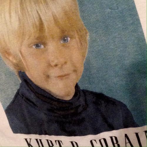 """Vintage 90s KURT . D . COBAIN """" childhood """" Tee"""