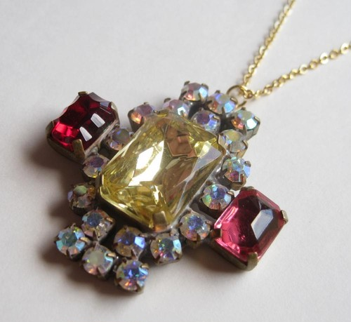 TheDelight antique Czech stone pendant(アンティーク チェコ ストーン ペンダント)⑥