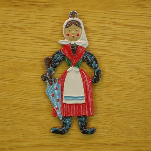 錫の飾り スカーフの婦人