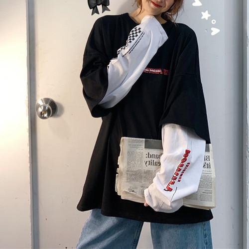 【トップス】偽2着新作韓国風ゆったりinsファッションbf快適な超人気パーカー