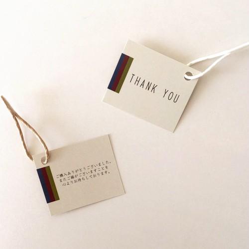 【50枚】サンキューカード m29dmini タグ 裏面メッセージ入り