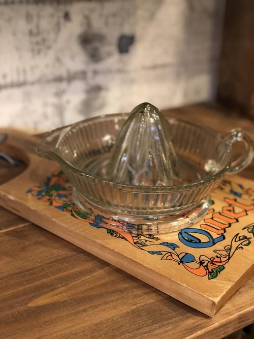 オレンジリーマー アメリカ USA キッチン ガラス ジューサー ビンテージ 果物