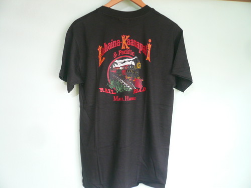 アメリカ製 Hanes BEEFY シングルステッチ デッドストック HAWAII ハワイ ラハイナカアナパリ シュガーケーントレイン Tee 黒 ブラック OLD