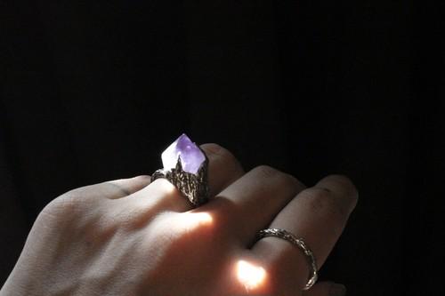 Amethyst Cliff Ring.
