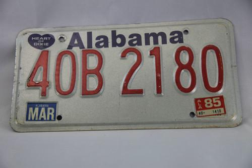 アメリカ ナンバープレートAlabama 40B2180 |80's US Car License
