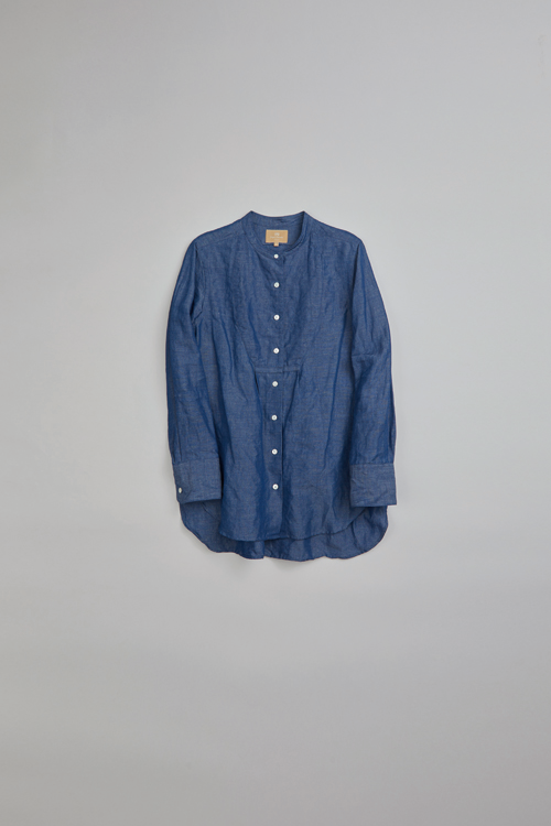 ドレスシャツ / DRESS SHIRT - COTTON LINEN DUNGAREE