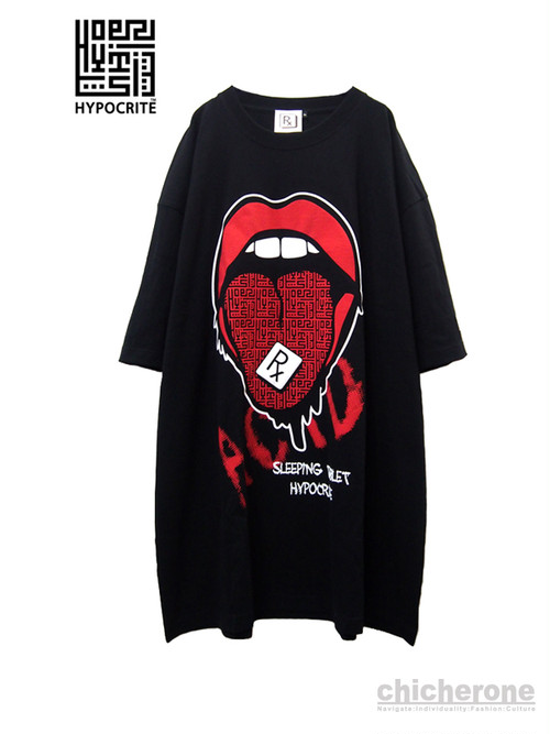 【HYPOCRITE × SLEEPING TABLET】 Acid Lips Tee