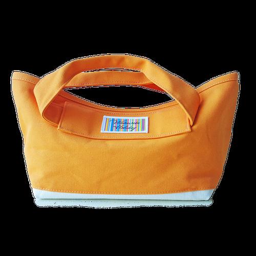 ハンドメイド8号×1号帆布手持ちトート(オレンジ/キャンバス)