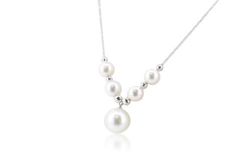 アコヤ真珠デザインペンダント K18ホワイトゴールド