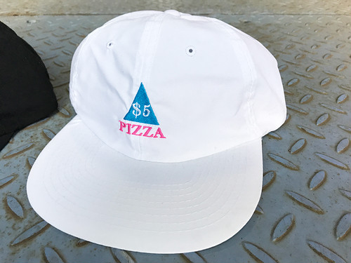 5$PIZZA POLYESTER CAP WHITE
