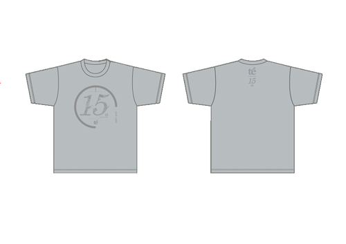 【te'】15周年グッズ - Tシャツ(グレー)