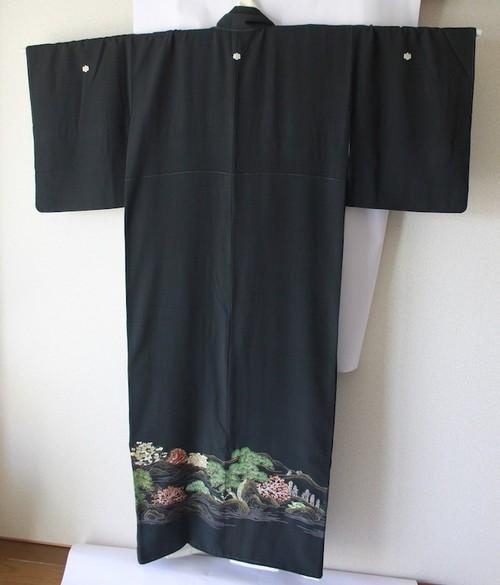 黒留袖002*裄63cm