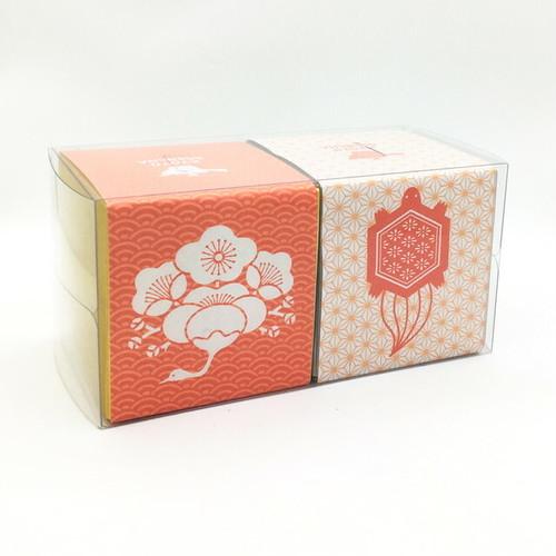 鶴亀文様|箱茶|祝・寿