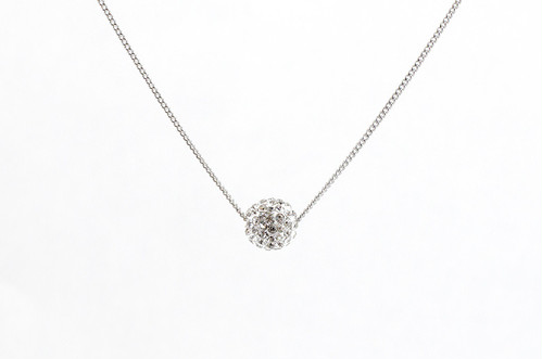 ラインストーンパヴェボールネックレス pve-neckcrystal1 クリスタル パヴェ キラキラ