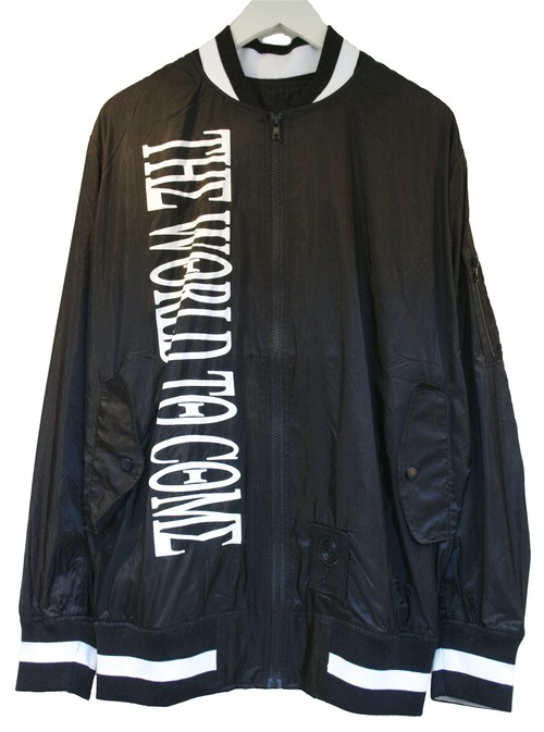 KTZ NYLON BOMBER JACKET ナイロン ボンバー ジャケット / BLACK-WHITE 50%OFF
