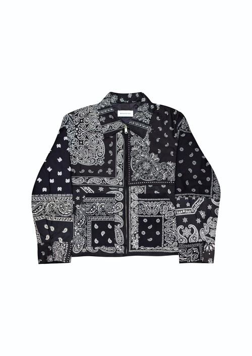 "BLACK  BANDANA""D""jacket / size 2"