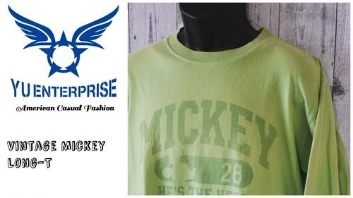 ヴィンテージ MICKEYロングスリーブTシャツ L☆アメカジ古着ファッション