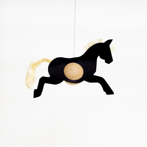 mobile horse single black