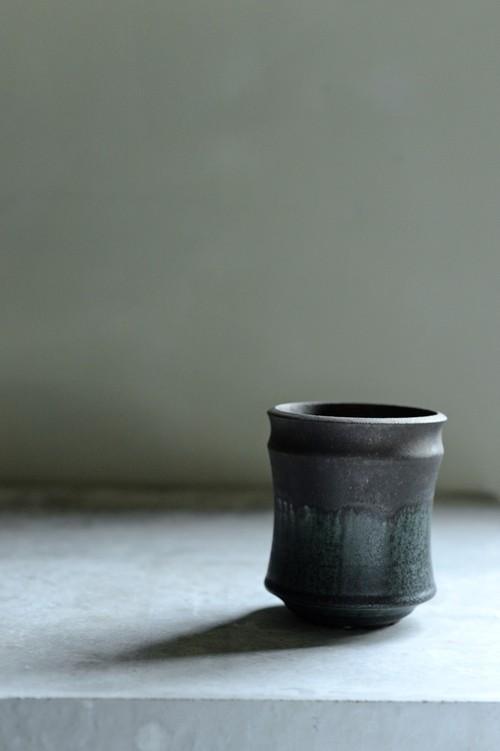 Mederu pot バレル Tall Sサイズ Two-tone 織部