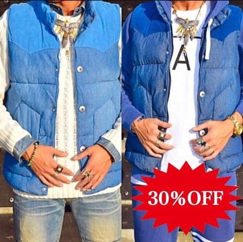 【50%OFF】Bgnee's select denimcollection デニムベスト 16.200円→