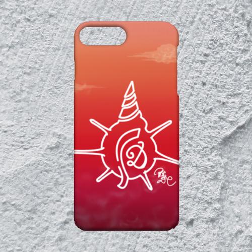 【iPhone8plus/7plus対応】D-Logoサンセットハードケース