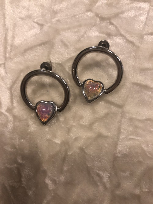 pink opal BEADS earring 片耳 #LA19010 ピンクオパール ピアス 片耳