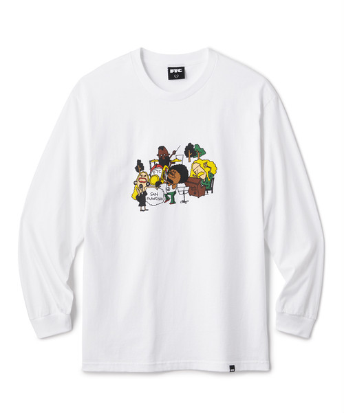 FTC / BAND L/S TEE -WHITE-