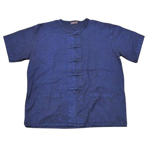 【USED】ノーカラーチャイナシャツ