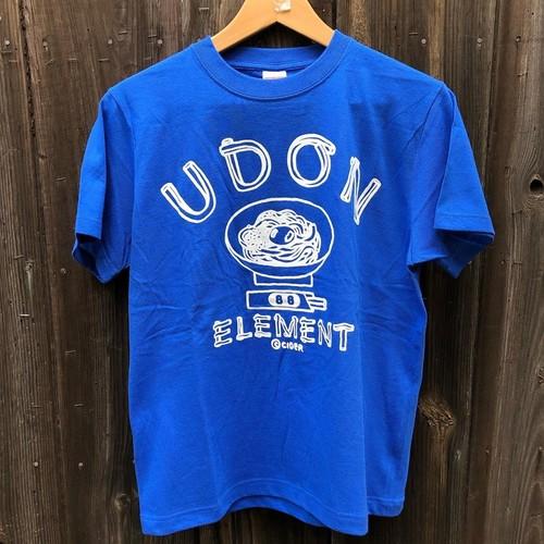 かせきさいだぁ UDON ELEMENT Tシャツ ロイヤルブルー
