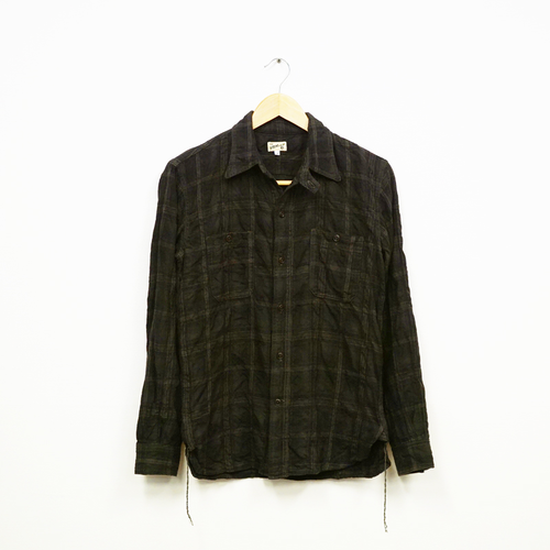 2 POCKETS WORK SHIRT (C/W DARK CHECK)