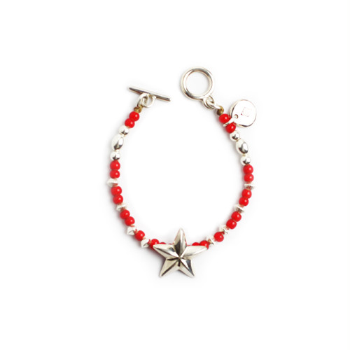CONSIGLIERE/コンシリエーレ Lucky star beads bracelet/Red-B