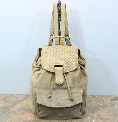 .BOTTEGA VENETA LEATHER RUCK SUCK MADE IN ITALY/ボッテガヴェネタイントレチャートレザーリュックサック 2000000030913