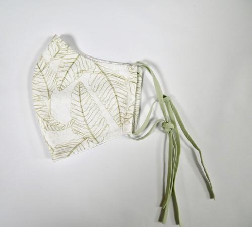 ファッション マスク リコ ホワイト モス カラーゴム 立体マスク