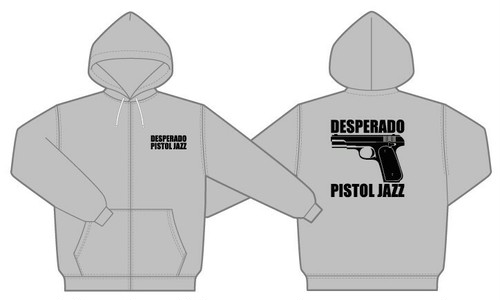 PISTOL JAZZ/DESPERADO ZIP UP HOODIE 9,3onz  col.gry