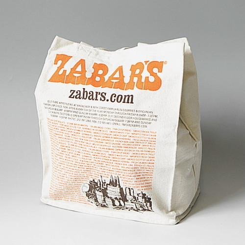 【再入荷】ZABAR'S ゼイバーズ エコトートバッグ キャンバスコットン 定番柄 (large)(※メール便で発送します。全国送料無料です。)