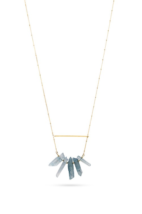 Five Stone Long Necklace