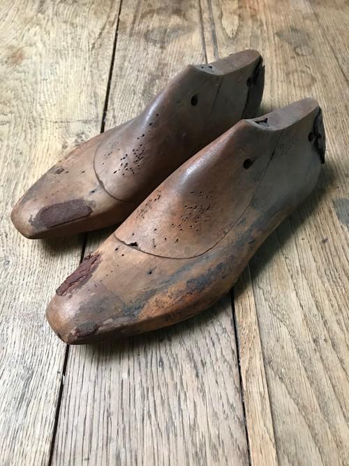 古い靴の木型 古道具