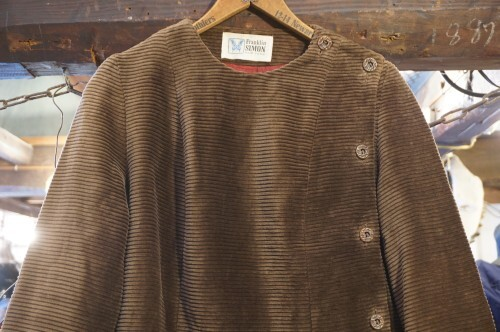 late 60's corduroy side button up Jacket