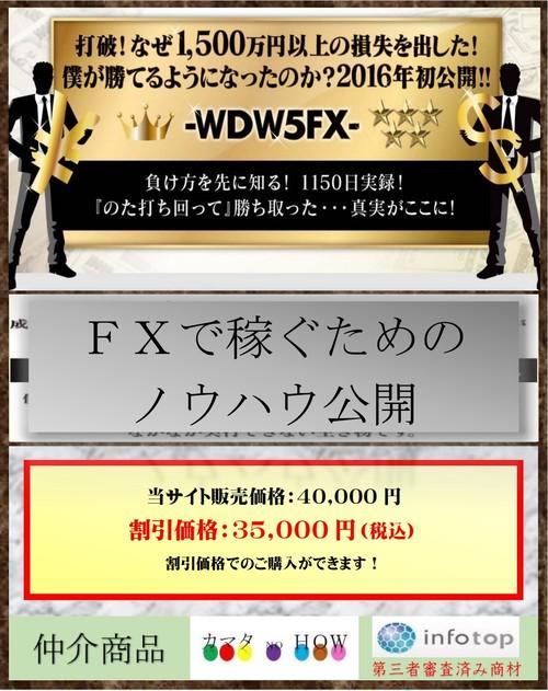FXで稼ぐ - WDW5FX – シンプルで再現性が高い明確なトレードルール