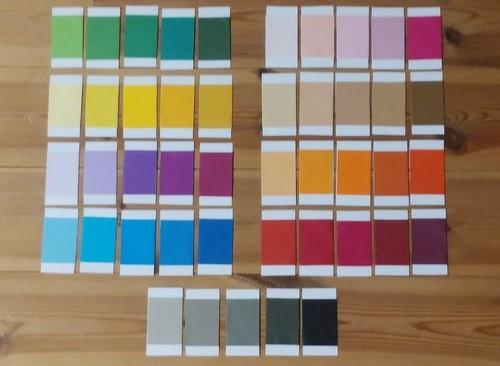 おうちモンテの手作りお仕事「手作り色板・第3箱」