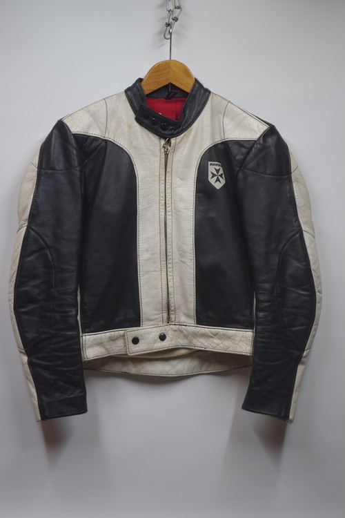 70's HARRO KAMBI Single Riders Jacket Two TONE(白×黒) キムタク木村拓哉