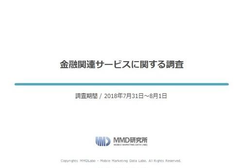 【MMD研究所自主調査】金融関連サービスに関する調査