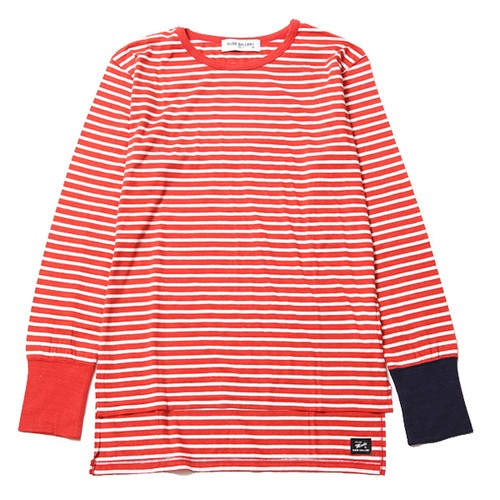 LONG RIB BORDER L/S (RED/WHITE) / RUDE GALLERY