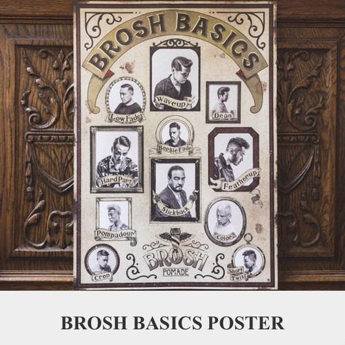 BROSH ベーシックポスター(ポスターフレームなし)
