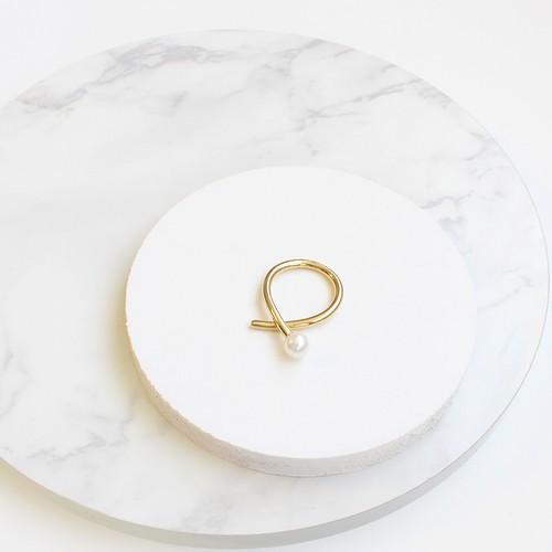 ■twist pearl ring -gold-■ ツイストパールリング ゴールド