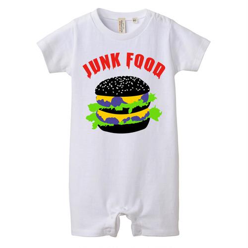 [ロンパース]junk food Black